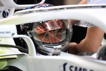 World © Octane Photographic Ltd. Formula 1 – Singapore GP - Practice 3. Williams Martini Racing FW41 – Sergey Sirotkin. Marina Bay Street Circuit, Singapore. Saturday 15th September 2018.