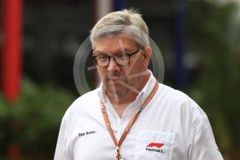 World © Octane Photographic Ltd. Formula 1 - Singapore GP - Paddock. Ross Brawn – Managing Director of Formula 1 for Liberty Media. Marina Bay Street Circuit, Singapore. Saturday 15th September 2018.