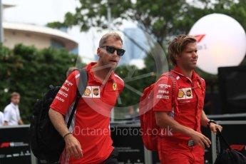 World © Octane Photographic Ltd. Formula 1 – Singapore GP - Paddock. Scuderia Ferrari SF71-H – Sebastian Vettel. Marina Bay Street Circuit, Singapore. Saturday 15th September 2018.