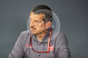 World © Octane Photographic Ltd. Formula 1 - Singapore GP - Friday FIA Team Press Conference. Guenther Steiner  - Team Principal of Haas F1 Team. Marina Bay Street Circuit, Singapore. Friday 14th September 2018.