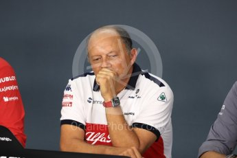 World © Octane Photographic Ltd. Formula 1 - Singapore GP - Friday FIA Team Press Conference. Frederic Vasseur – Team Principal and CEO of Sauber Motorsport AG. Marina Bay Street Circuit, Singapore. Friday 14th September 2018.