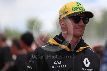 World © Octane Photographic Ltd. Formula 1 – Spanish GP - Drivers' Parade. Renault Sport F1 Team RS18 – Nico Hulkenberg. Circuit de Barcelona-Catalunya, Spain. Sunday 13th May 2018.