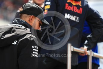 World © Octane Photographic Ltd. Formula 1 – Spanish GP - Drivers' Parade. Mercedes AMG Petronas Motorsport AMG F1 W09 EQ Power+ - Lewis Hamilton. Circuit de Barcelona-Catalunya, Spain. Sunday 13th May 2018.
