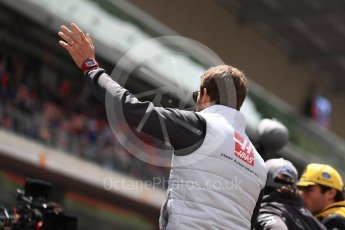 World © Octane Photographic Ltd. Formula 1 – Spanish GP - Drivers' Parade. Haas F1 Team VF-18 – Romain Grosjean. Circuit de Barcelona-Catalunya, Spain. Sunday 13th May 2018.