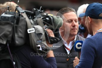 World © Octane Photographic Ltd. Formula 1 - Spanish GP - Grid. Zak Brown - Executive Director of McLaren Technology Group.  Circuit de Barcelona-Catalunya, Spain. Sunday 13th May 2018.
