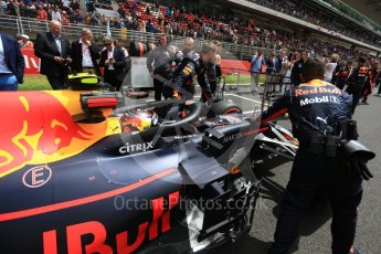 World © Octane Photographic Ltd. Formula 1 – Spanish GP - Grid. Aston Martin Red Bull Racing TAG Heuer RB14 – Max Verstappen. Circuit de Barcelona-Catalunya, Spain. Sunday 13th May 2018.