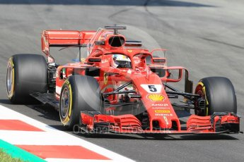 World © Octane Photographic Ltd. Formula 1 – Spanish GP - Practice 1. Scuderia Ferrari SF71-H – Sebastian Vettel. Circuit de Barcelona-Catalunya, Spain. Friday 11th May 2018.