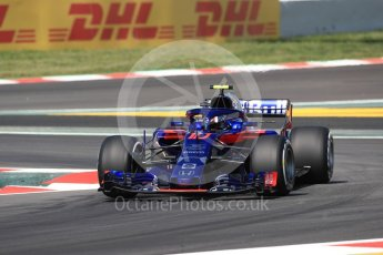 World © Octane Photographic Ltd. Formula 1 – Spanish GP - Practice 1. Scuderia Toro Rosso STR13 – Pierre Gasly. Circuit de Barcelona-Catalunya, Spain. Friday 11th May 2018.