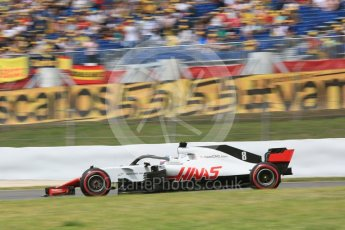 World © Octane Photographic Ltd. Formula 1 – Spanish GP - Saturday Practice 3. Haas F1 Team VF-18 – Romain Grosjean. Circuit de Barcelona-Catalunya, Spain. Saturday 12th May 2018.