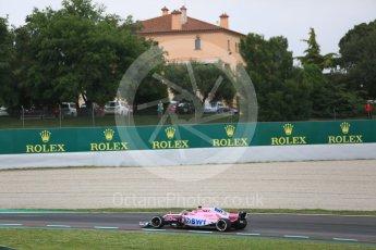 World © Octane Photographic Ltd. Formula 1 – Spanish GP - Saturday - Practice 3. Sahara Force India VJM11 - Esteban Ocon. Circuit de Barcelona-Catalunya, Spain. Saturday 12th May 2018.