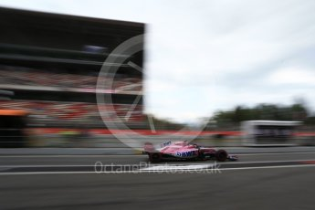 World © Octane Photographic Ltd. Formula 1 – Spanish GP - Saturday - Practice 3. Sahara Force India VJM11 - Sergio Perez. Circuit de Barcelona-Catalunya, Spain. Saturday 12th May 2018.