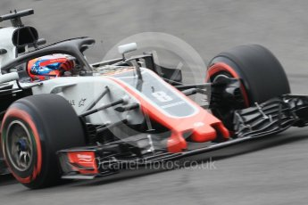 World © Octane Photographic Ltd. Formula 1 – Spanish GP - Saturday Qualifying. Haas F1 Team VF-18 – Romain Grosjean. Circuit de Barcelona-Catalunya, Spain. Saturday 12th May 2018.
