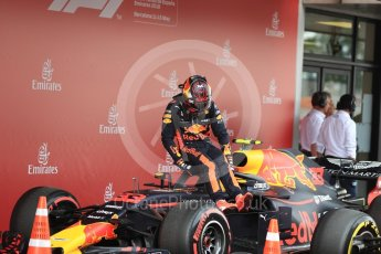 World © Octane Photographic Ltd. Formula 1 – Spanish GP - Saturday Qualifying. Aston Martin Red Bull Racing TAG Heuer RB14 – Max Verstappen. Circuit de Barcelona-Catalunya, Spain. Saturday 12th May 2018.