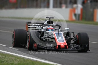 World © Octane Photographic Ltd. Formula 1 – Spanish GP - Race. Haas F1 Team VF-18 – Romain Grosjean. Circuit de Barcelona-Catalunya, Spain. Sunday 13th May 2018.