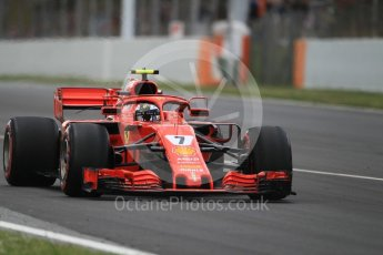 World © Octane Photographic Ltd. Formula 1 – Spanish GP - Race. Scuderia Ferrari SF71-H – Kimi Raikkonen. Circuit de Barcelona-Catalunya, Spain. Sunday 13th May 2018.