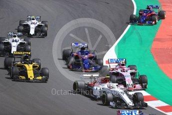 World © Octane Photographic Ltd. Formula 1 – Spanish GP - Race. Alfa Romeo Sauber F1 Team C37 – Charles Leclerc. Circuit de Barcelona-Catalunya, Spain. Sunday 13th May 2018.