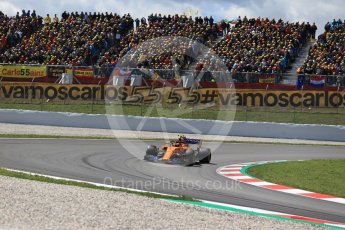 World © Octane Photographic Ltd. Formula 1 – Spanish GP - Race. McLaren MCL33 – Stoffel Vandoorne. Circuit de Barcelona-Catalunya, Spain. Sunday 13th May 2018.