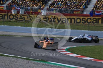 World © Octane Photographic Ltd. Formula 1 – Spanish GP - Race. McLaren MCL33 – Fernando Alonso. Circuit de Barcelona-Catalunya, Spain. Sunday 13th May 2018.