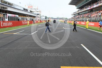 World © Octane Photographic Ltd. FIA Formula 2 (F2) – Spanish GP - Race1. The grid. Circuit de Barcelona-Catalunya, Spain. Saturday 12th May 2018.