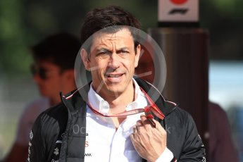 World © Octane Photographic Ltd. Formula 1 - Spanish GP - Friday Paddock. Toto Wolff - Executive Director & Head of Mercedes-Benz Motorsport. Circuit de Barcelona-Catalunya, Spain. Friday 11th May 2018.