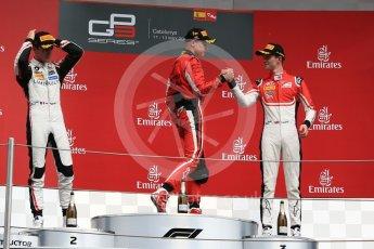 World © Octane Photographic Ltd. GP3 – Spanish GP – Race 1. ART Grand Prix - Nikita Mazepin, Anthoine Hubert and Callum Illot. Circuit de Barcelona-Catalunya, Spain. Saturday 12th May 2018.