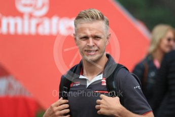 World © Octane Photographic Ltd. Formula 1 – Spanish GP - Saturday - Paddock. Haas F1 Team VF-18 – Kevin Magnussen. Circuit de Barcelona-Catalunya, Spain. Saturday 12th May 2018.