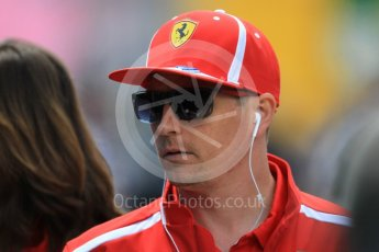 World © Octane Photographic Ltd. Formula 1 – Spanish GP - Sunday Paddock. Scuderia Ferrari SF71-H – Kimi Raikkonen. Circuit de Barcelona-Catalunya, Spain. Sunday 13th May 2018.