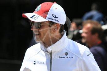 World © Octane Photographic Ltd. Formula 1 – Spanish GP - Sunday Paddock. Alfa Romeo Sauber F1 Team C37 – Charles Leclerc. Circuit de Barcelona-Catalunya, Spain. Sunday 13th May 2018.