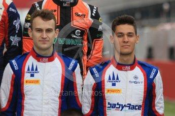 World © Octane Photographic Ltd. GP3 – Spanish GP – Class of 2018. Trident - Ryan Tveter and Alessia Lorando. Circuit de Barcelona-Catalunya, Spain. Thursday 10th May 2018.