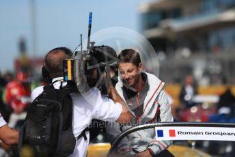 World © Octane Photographic Ltd. Formula 1 – United States GP - Drivers Parade. Haas F1 Team VF-18 – Romain Grosjean. Circuit of the Americas (COTA), USA. Sunday 21st October 2018.