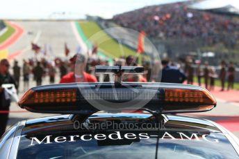 World © Octane Photographic Ltd. Formula 1 – United States GP - Grid. View to Turn 1. Circuit of the Americas (COTA), USA. Sunday 21st October 2018.