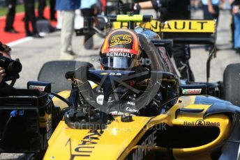 World © Octane Photographic Ltd. Formula 1 – United States GP - Grid. Renault Sport F1 Team RS18 – Carlos Sainz. Circuit of the Americas (COTA), USA. Sunday 21st October 2018.