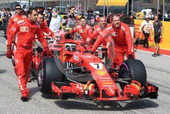 World © Octane Photographic Ltd. Formula 1 – United States GP - Grid. Scuderia Ferrari SF71-H – Kimi Raikkonen. Circuit of the Americas (COTA), USA. Sunday 21st October 2018.