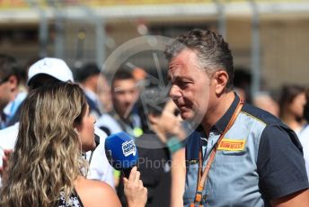 World © Octane Photographic Ltd. Formula 1 - United States GP - Grid. Mario Isola – Pirelli Head of Car Racing. Circuit of the Americas (COTA), USA. Sunday 21st October 2018.