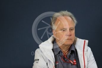 World © Octane Photographic Ltd. Formula 1 - United States GP - Friday FIA Team Press Conference. Gene Haas  - Founder and Chairman of Haas F1 Team. Circuit of the Americas (COTA), USA.Friday 18th October 2018.