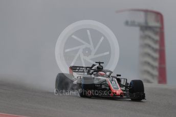 World © Octane Photographic Ltd. Formula 1 – United States GP - Practice 1. Haas F1 Team VF-18 – Romain Grosjean. Circuit of the Americas (COTA), USA. Friday 19th October 2018.