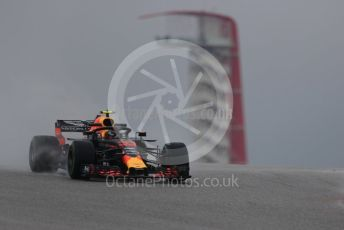 World © Octane Photographic Ltd. Formula 1 – United States GP - Practice 1. Aston Martin Red Bull Racing TAG Heuer RB14 – Max Verstappen. Circuit of the Americas (COTA), USA. Friday 19th October 2018.