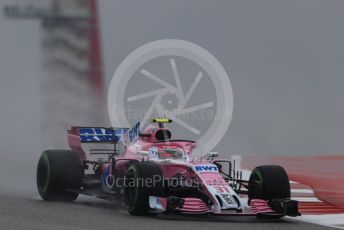 World © Octane Photographic Ltd. Formula 1 – United States GP - Practice 1. Racing Point Force India VJM11 - Esteban Ocon. Circuit of the Americas (COTA), USA. Friday 19th October 2018.