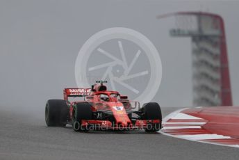 World © Octane Photographic Ltd. Formula 1 – United States GP - Practice 1. Scuderia Ferrari SF71-H – Sebastian Vettel. Circuit of the Americas (COTA), USA. Friday 19th October 2018.