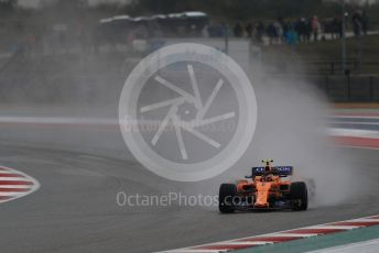 World © Octane Photographic Ltd. Formula 1 – United States GP - Practice 2. McLaren MCL33 – Stoffel Vandoorne. Circuit of the Americas (COTA), USA. Friday 19th October 2018.