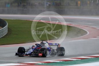 World © Octane Photographic Ltd. Formula 1 – United States GP - Practice 2. Scuderia Toro Rosso STR13 – Brendon Hartley. Circuit of the Americas (COTA), USA. Friday 19th October 2018.