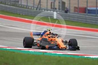 World © Octane Photographic Ltd. Formula 1 – United States GP - Qualifying. McLaren MCL33 – Stoffel Vandoorne. Circuit of the Americas (COTA), USA. Saturday 20th October 2018.