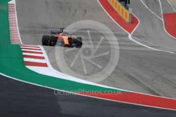 World © Octane Photographic Ltd. Formula 1 – United States GP - Qualifying. McLaren MCL33 – Fernando Alonso. Circuit of the Americas (COTA), USA. Saturday 20th October 2018.