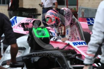 World © Octane Photographic Ltd. Formula 1 – United States GP - Qualifying. Racing Point Force India VJM11 - Sergio Perez. Circuit of the Americas (COTA), USA. Saturday 20th October 2018.