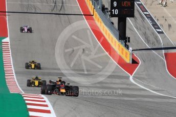 World © Octane Photographic Ltd. Formula 1 – United States GP - Race. Aston Martin Red Bull Racing TAG Heuer RB14 – Daniel Ricciardo. Circuit of the Americas (COTA), USA. Sunday 21st October 2018.
