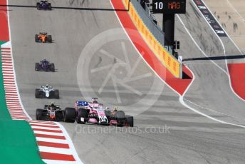 World © Octane Photographic Ltd. Formula 1 – United States GP - Race. Racing Point Force India VJM11 - Sergio Perez. Circuit of the Americas (COTA), USA. Sunday 21st October 2018.