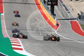World © Octane Photographic Ltd. Formula 1 – United States GP - Race. Aston Martin Red Bull Racing TAG Heuer RB14 – Max Verstappen. Circuit of the Americas (COTA), USA. Sunday 21st October 2018.