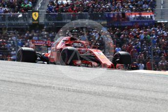 World © Octane Photographic Ltd. Formula 1 – United States GP - Race. Scuderia Ferrari SF71-H – Sebastian Vettel. Circuit of the Americas (COTA), USA. Sunday 21st October 2018.