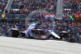 World © Octane Photographic Ltd. Formula 1 – United States GP - Race. Scuderia Toro Rosso STR13 – Pierre Gasly. Circuit of the Americas (COTA), USA. Sunday 21st October 2018.