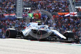 World © Octane Photographic Ltd. Formula 1 – United States GP - Race. Williams Martini Racing FW41 – Sergey Sirotkin. Circuit of the Americas (COTA), USA. Sunday 21st October 2018.